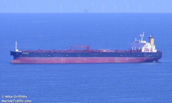 Imagen del petrolero Lady M, de bandera de Liberia. / Marine Traffic