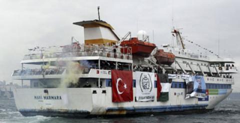 El barco turco Mavi Marmara', que fue asaltado por las tropas israelíes en la Flotilla de la Libertad de 2010.