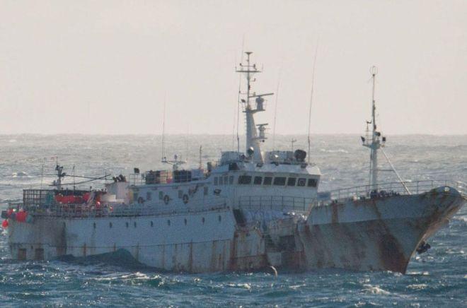 El Yongding, buque relacionado con la pesca ilegal en aguas antártidas. / INTERPOL