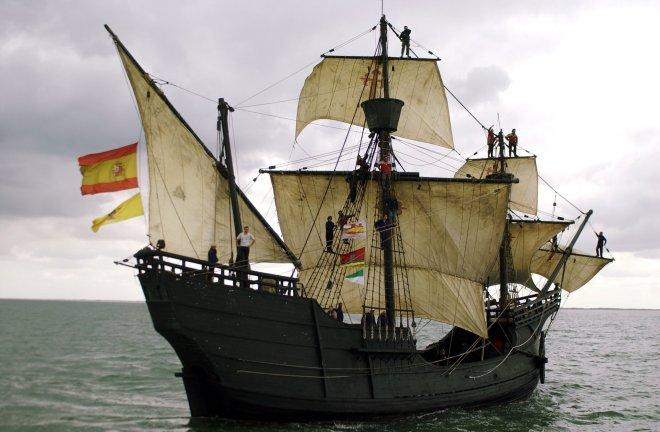 Réplica de la nao Victoria, de la expedición de Magallanes, un diseño similar al usado por Mendaña. Fotografía: Cordon Press