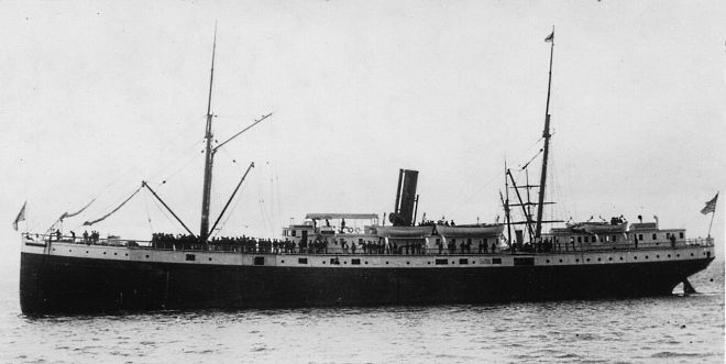 SS Valencia around 1900, showing much of her original Red D Line profile. Wikipedia