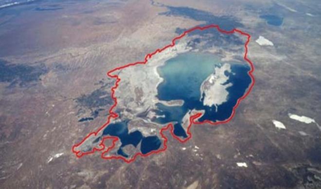 El lago Urmía se seca a pasos agigantados en Irán