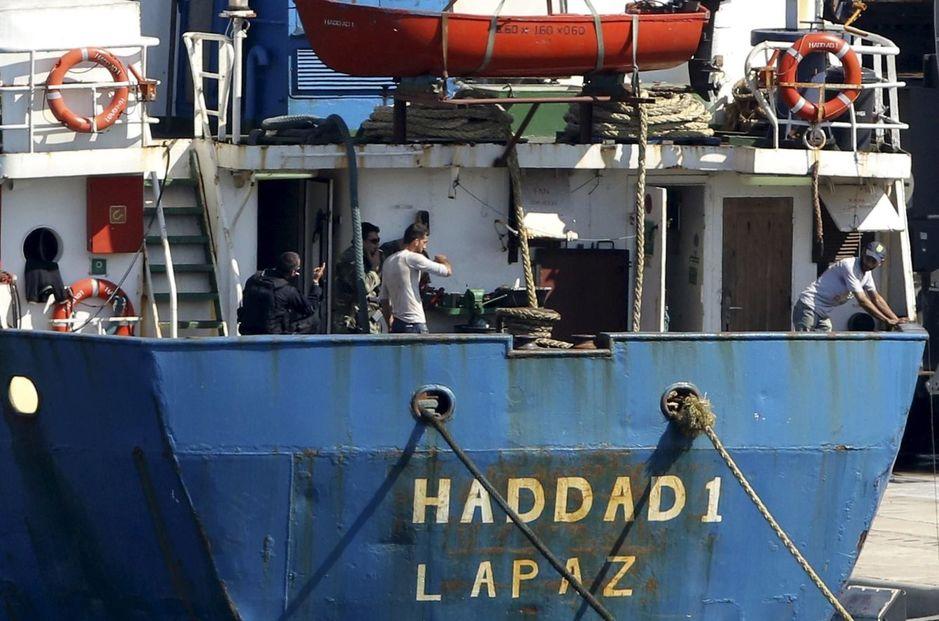 El 'Haddad 1', retenido en el puerto de Heraclión